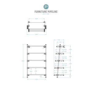 Orlando Farmhouse Industrial Leaning Etagere