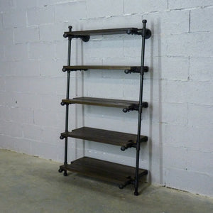 Orlando Farmhouse Industrial Leaning Bookcase