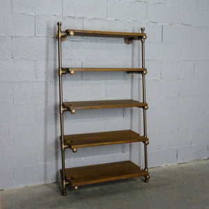 Orlando Farmhouse Industrial Leaning Bookcase - H&R Lifestyle