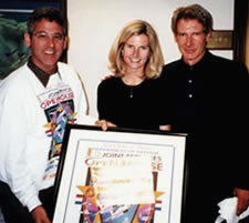 Harrison Ford with Kimberleigh and Paul