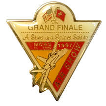 "1997 Triangle Logo Pin from the Last El Toro Air Show ""Hail & Farewell"""