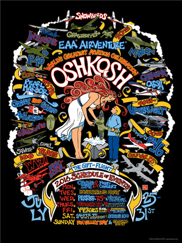 "2016 ""Retro"" Oshkosh AirVenture T-shirt"