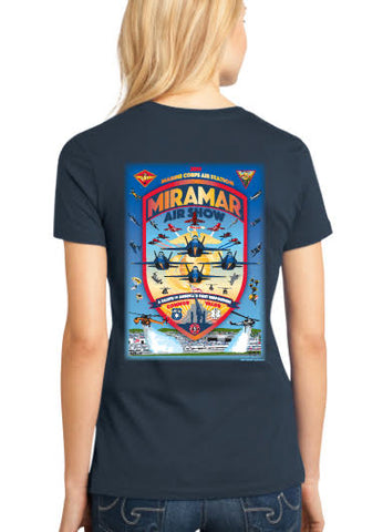 "2019 Miramar Air Show Womens T-shirts ""District Made"" T"