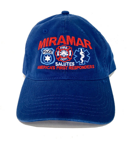"Miramar Salutes ""America's First Responders"" Embroidered Royal Blue Hat"