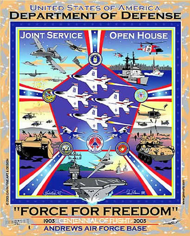 Andrews AFB Department of Defense Joint Service Open House 2003 Poster