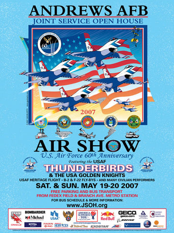 Andrews AFB Department of Defense Joint Service Open House 2007 Poster