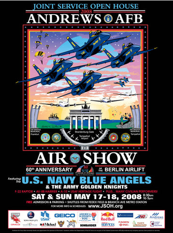 Andrews AFB Department of Defense Joint Service Open House 2008 Poster
