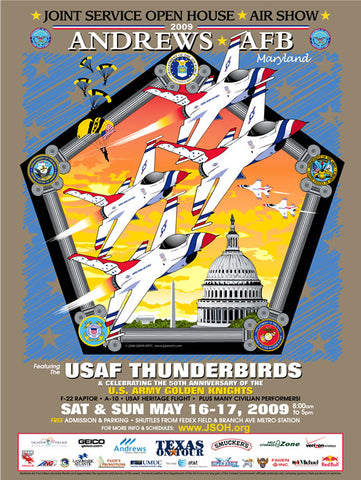 Andrews AFB Department of Defense Joint Service Open House 2009 Poster