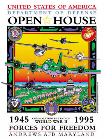 Andrews AFB Department of Defense Joint Service Open House 1995 Poster