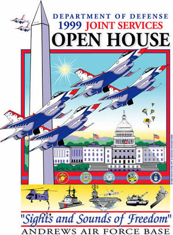 Andrews AFB Department of Defense Joint Service Open House 1999 Poster