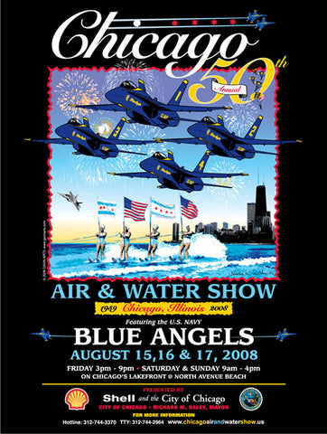 Chicago Air & Water Show 2008 Poster