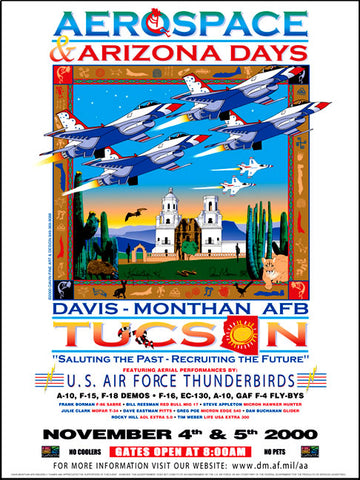 Davis-Monthan AFB Aerospace & Arizona Days 2000 Poster
