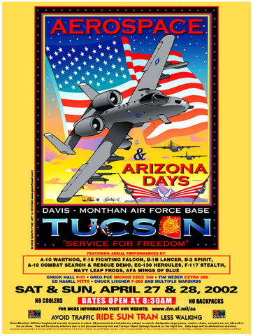 Davis-Monthan AFB Aerospace & Arizona Days 2002 Poster