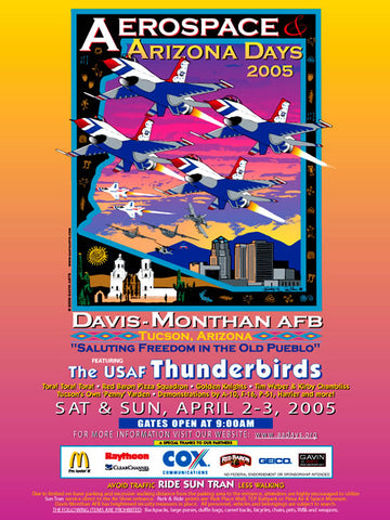 Davis-Monthan AFB Aerospace & Arizona Days 2005 Poster