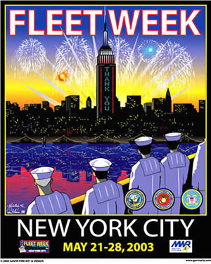 Fleet Week New York City 2003 Poster