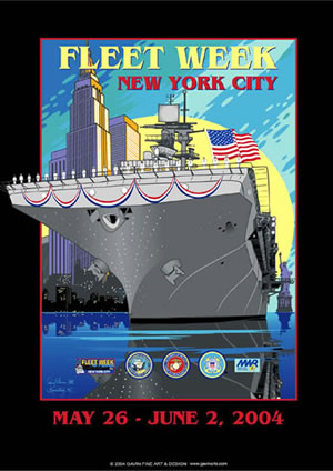 Fleet Week New York City 2004 Poster