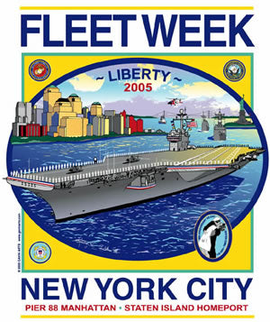 Fleet Week New York City 2005 Poster