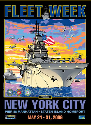 Fleet Week New York City 2006 Poster