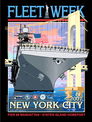 Fleet Week New York City 2007 Poster