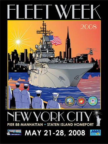 Fleet Week New York City 2008 Poster