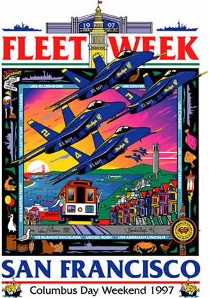 Fleet Week San Francisco 1997 Poster