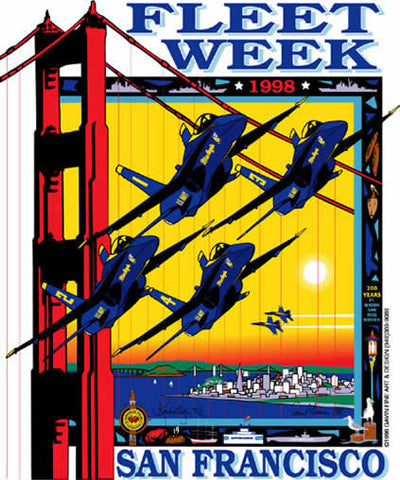 Fleet Week San Francisco 1998 Poster