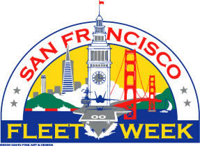 Fleet Week San Francisco Logo Pin, Undated