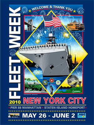 Fleet Week New York City 2010 Poster