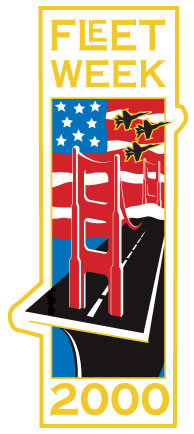 Fleet Week San Francisco 2000 Logo Pin