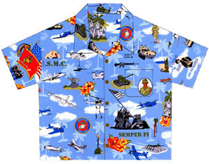 U.S. Marine Corps Hawaiian™ Shirts for Women