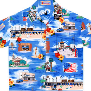 Huntington Beach Surf City Hawaiian™ Shirts, Sarongs & Fabric
