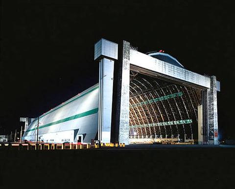 MCAS Tustin Lit Blimp Hangars - Photo/poster