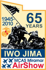 MCAS Miramar Air Show 2010 Pin Iwo Jima 65 Years