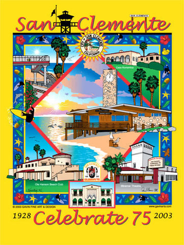 Celebrate 75: San Clemente's 75th Anniversary Poster