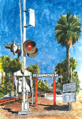 San Clemente Railroad Crossing