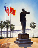 Semper Fidelis Reflections: The Marine Monument at San Clemente Note Cards - Standard & Holiday Edition