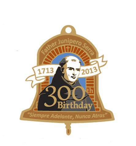 Father Serra's 300th Birthday Charm