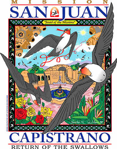 San Juan Capistrano Swallows Day 2000 Poster