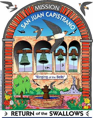 San Juan Capistrano Swallows Day 2001 Poster