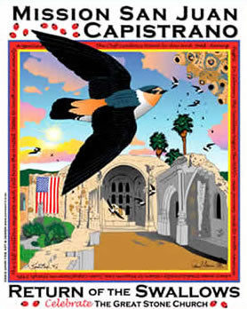 San Juan Capistrano Swallows Day 2003 Poster