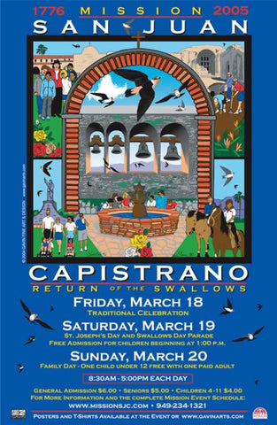 San Juan Capistrano Swallows Day 2005 Poster