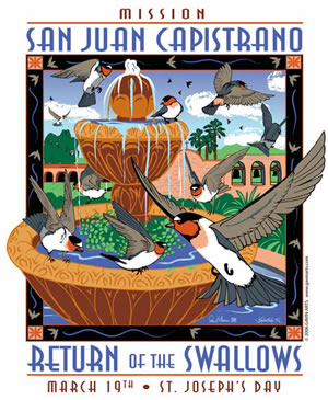 San Juan Capistrano Swallows Day 2006 Poster