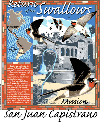 San Juan Capistrano Swallows Day 2008 Poster