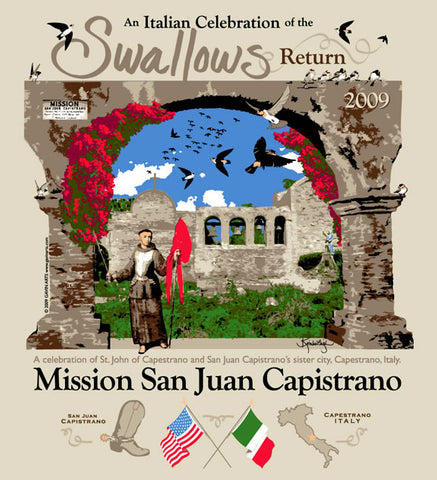 San Juan Capistrano Swallows Day 2009 Poster