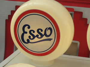 ESSO Vintage Style Gas Pump Globe, Retro Gas Pump Globes .             (3 Sizes Available)