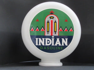 INDIAN Gas Pump Globe - Global Collection Uk