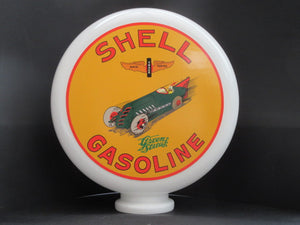 SHELL Gasoline Gas Pump Globe (Large) - Global Collection Uk