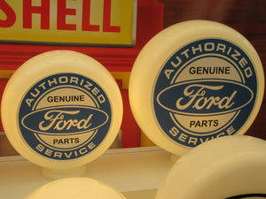 FORD Genuine Parts Service Style Gas Pump Globe (3 sizes Available)