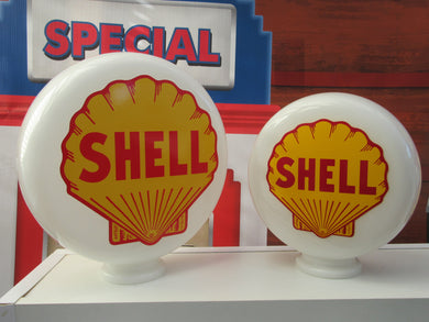 SHELL Clam Shell Gas Pump Globe      .   (2 Sizes Available)