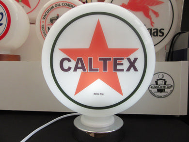 Caltex Gasoline Retro Gas Pump Globe  . (3 Sizes Available)